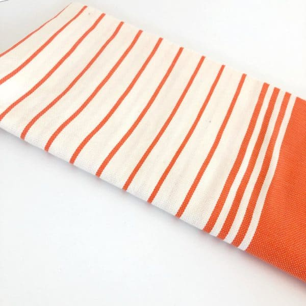 Fouta orange rayée